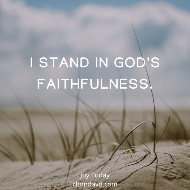 I have strong opinions, but opinions need a worldview to stand on. And a worldview needs the foundation of God's faithfulness to break thru fear, lies, and joylessness.
