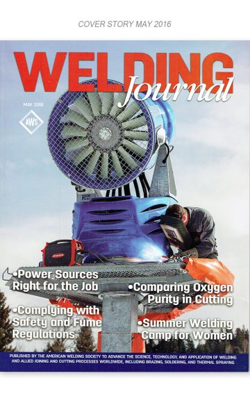 Cover article about Innovations in welding