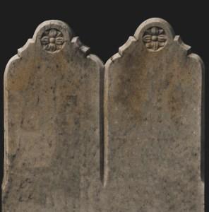 dual arch gravestone
