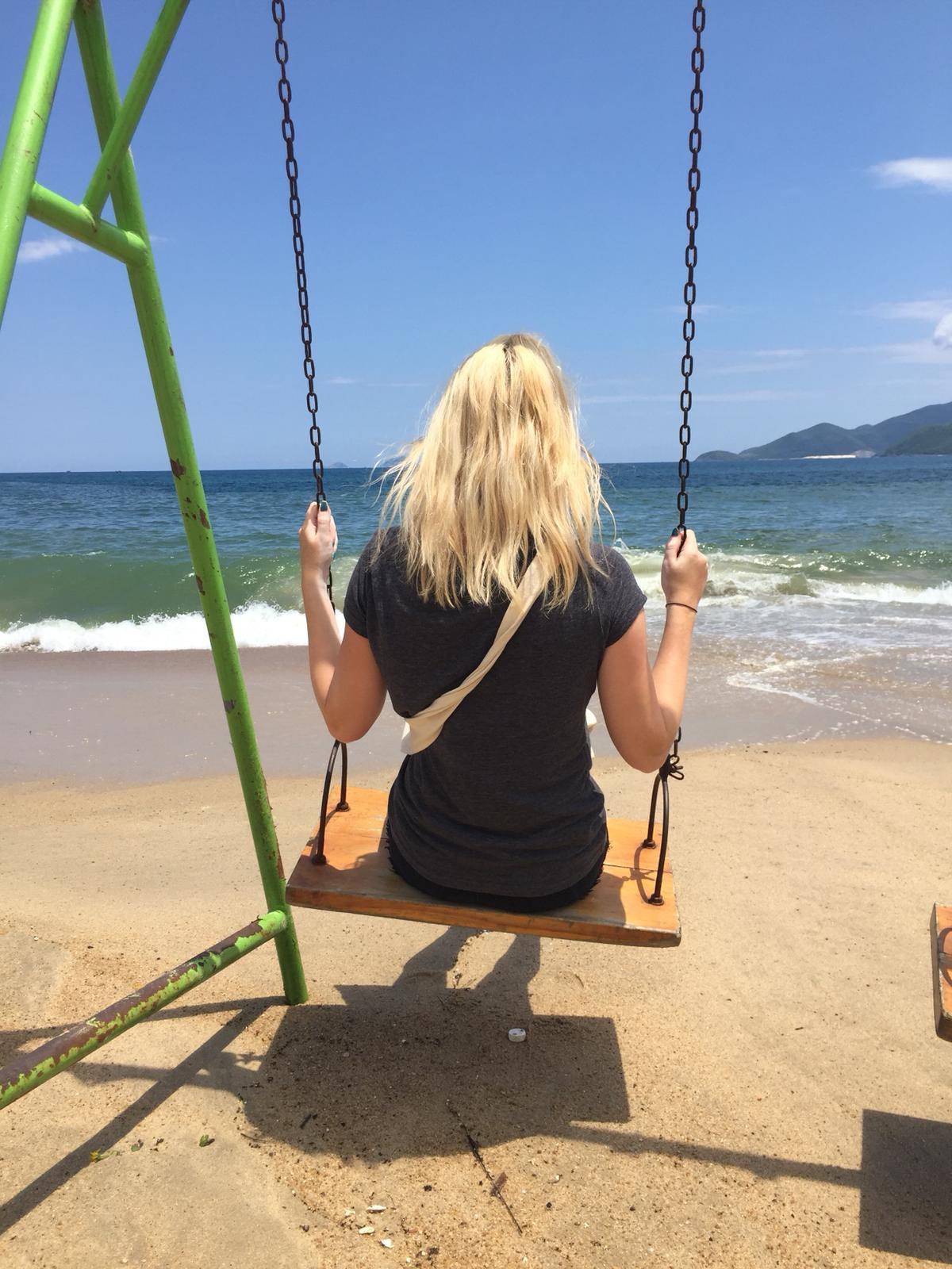 swing on Nah Trang beach