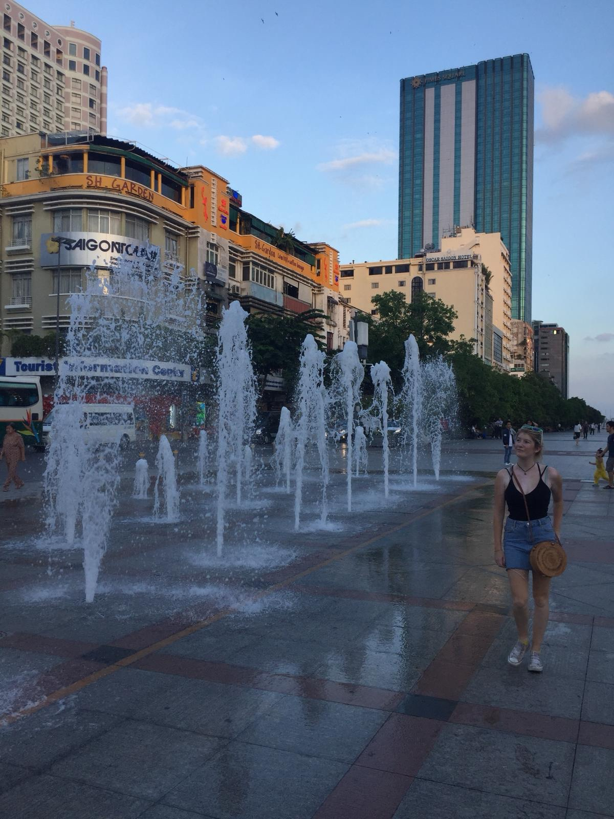 fountains in Ho Chi Minh City