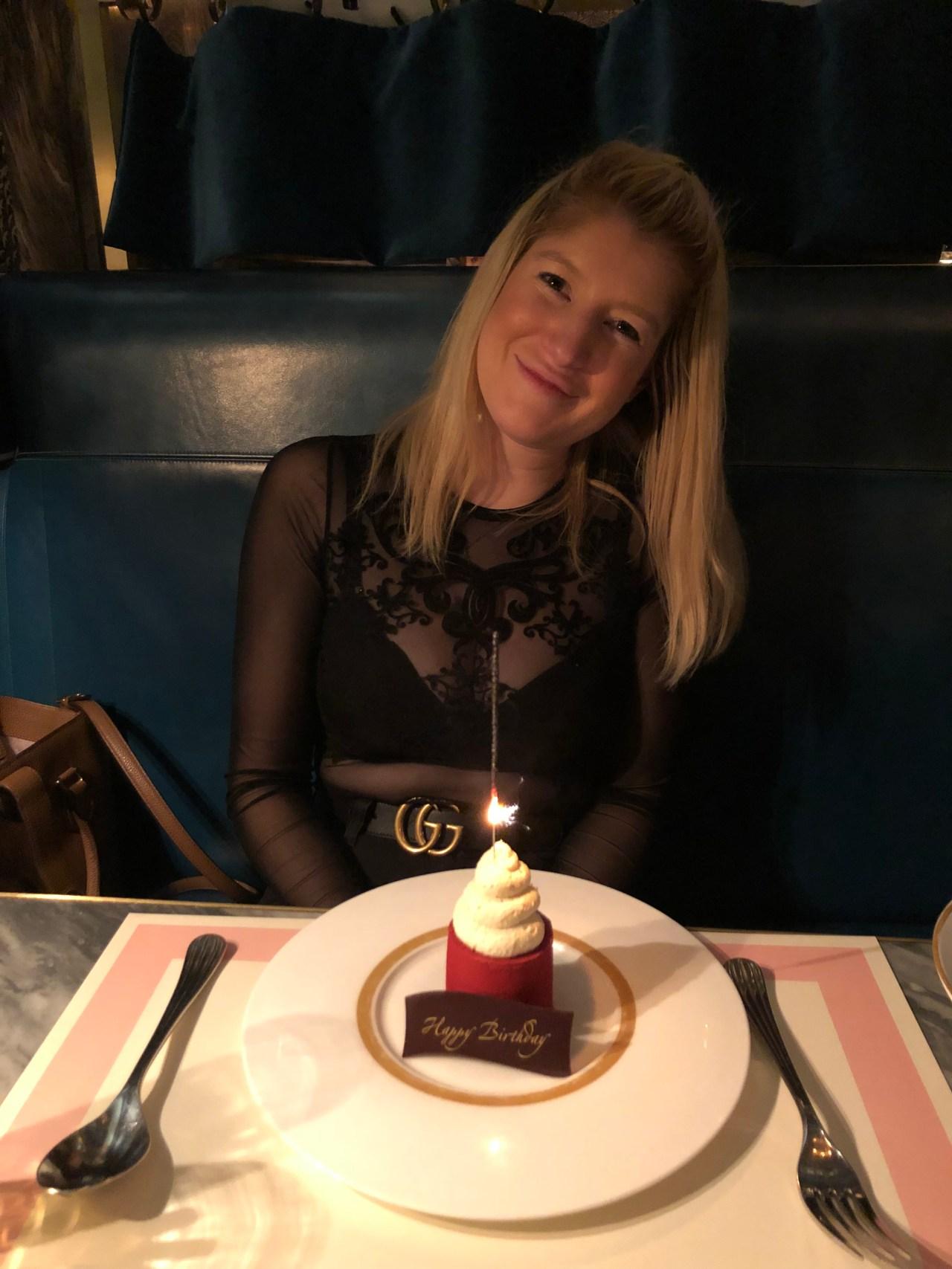 Bob Bob Ricard dessert birthday