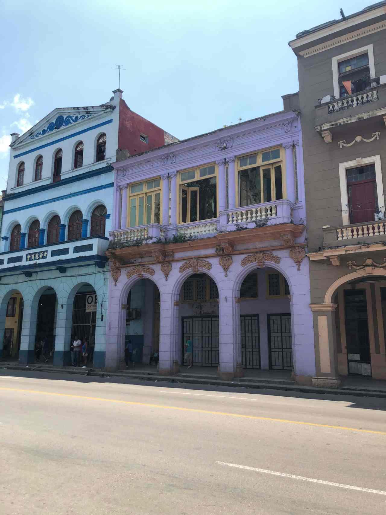 Coloured buildings Havana