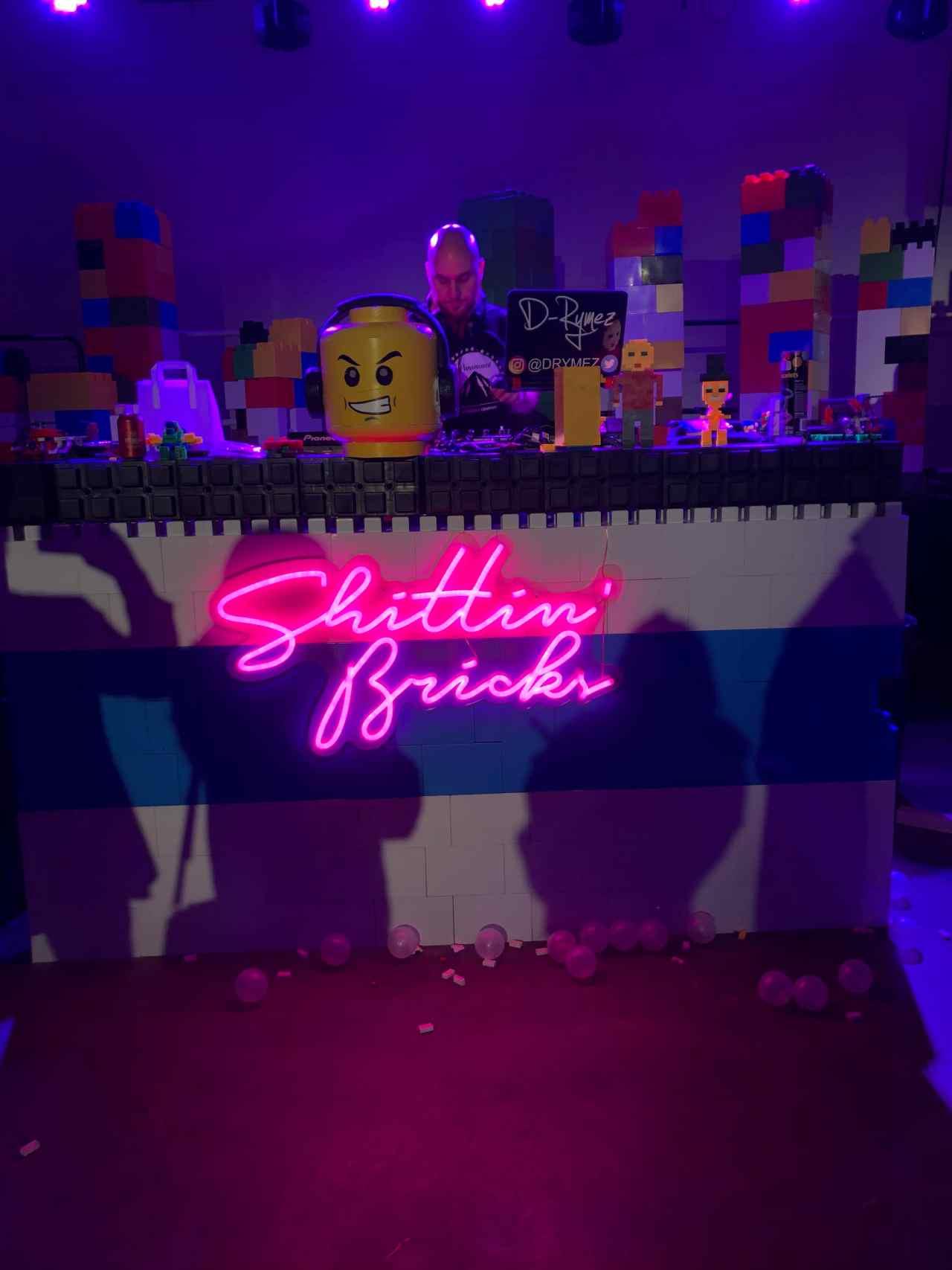 Brick bar DJ booth