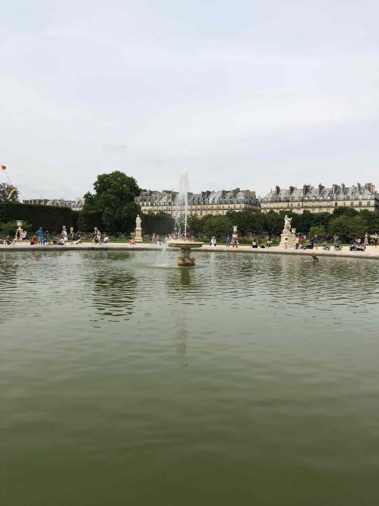 Fountain Jardin de Luxembourg Paris