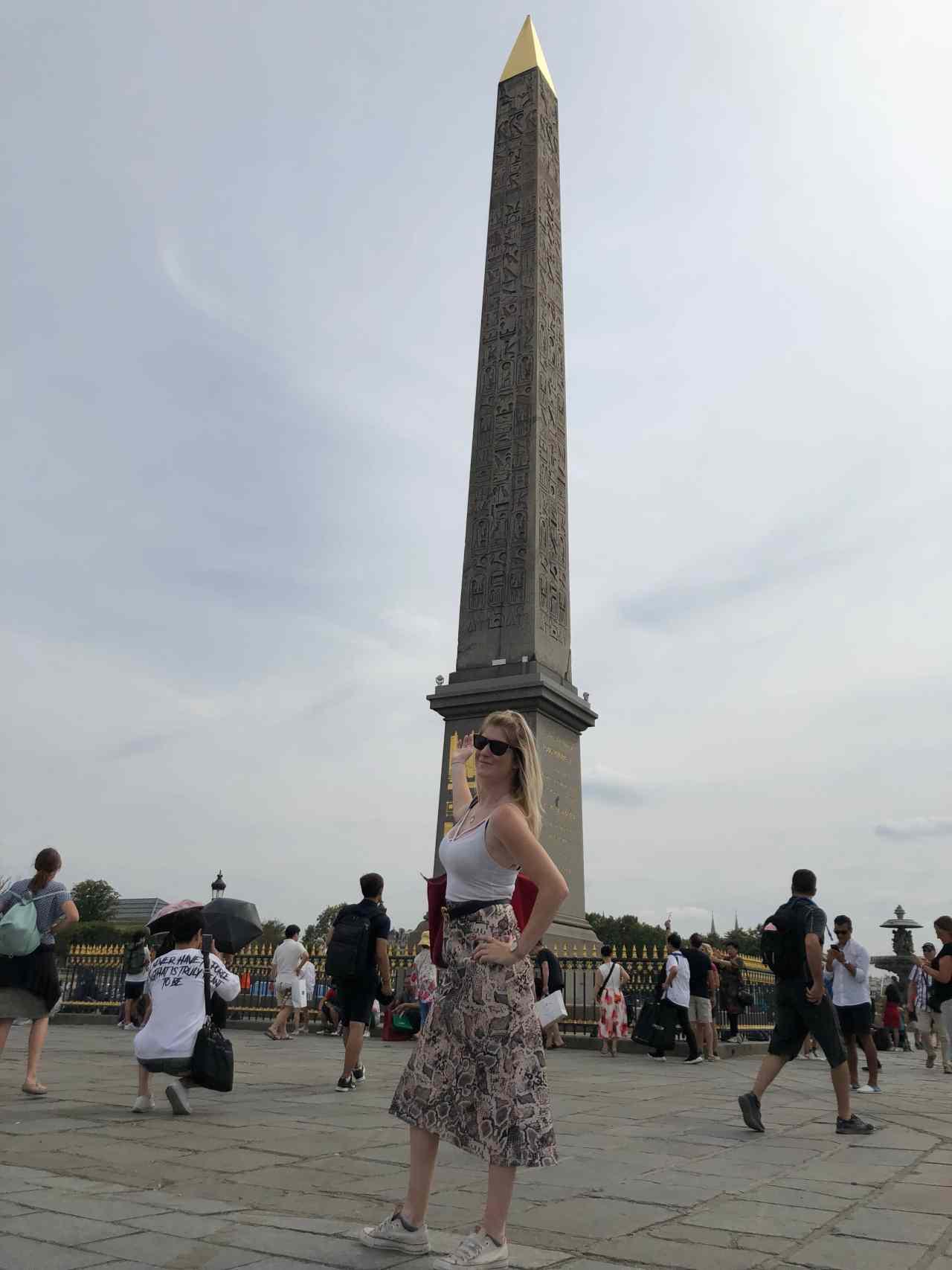 obelisk on the Place de la Concorde