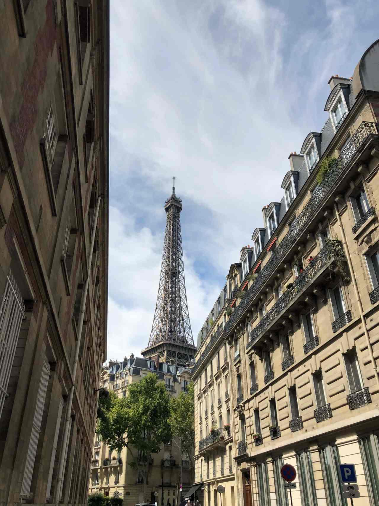 Street view of Eiffel Tower
