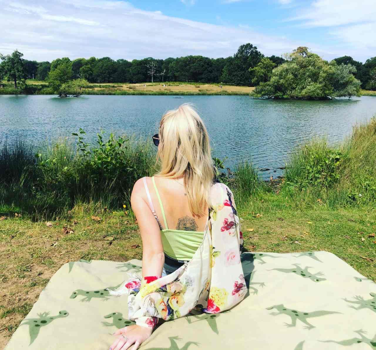 Richmond park picnic by the lake