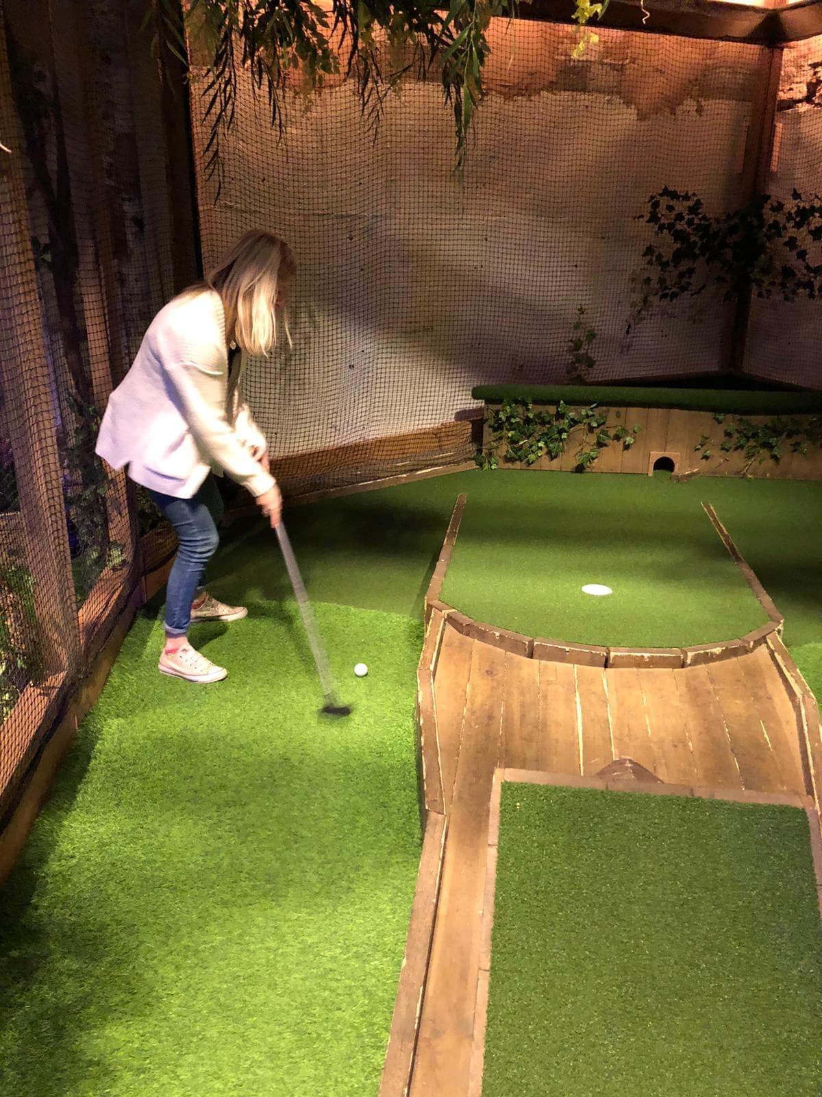 Swingers London mini golf course