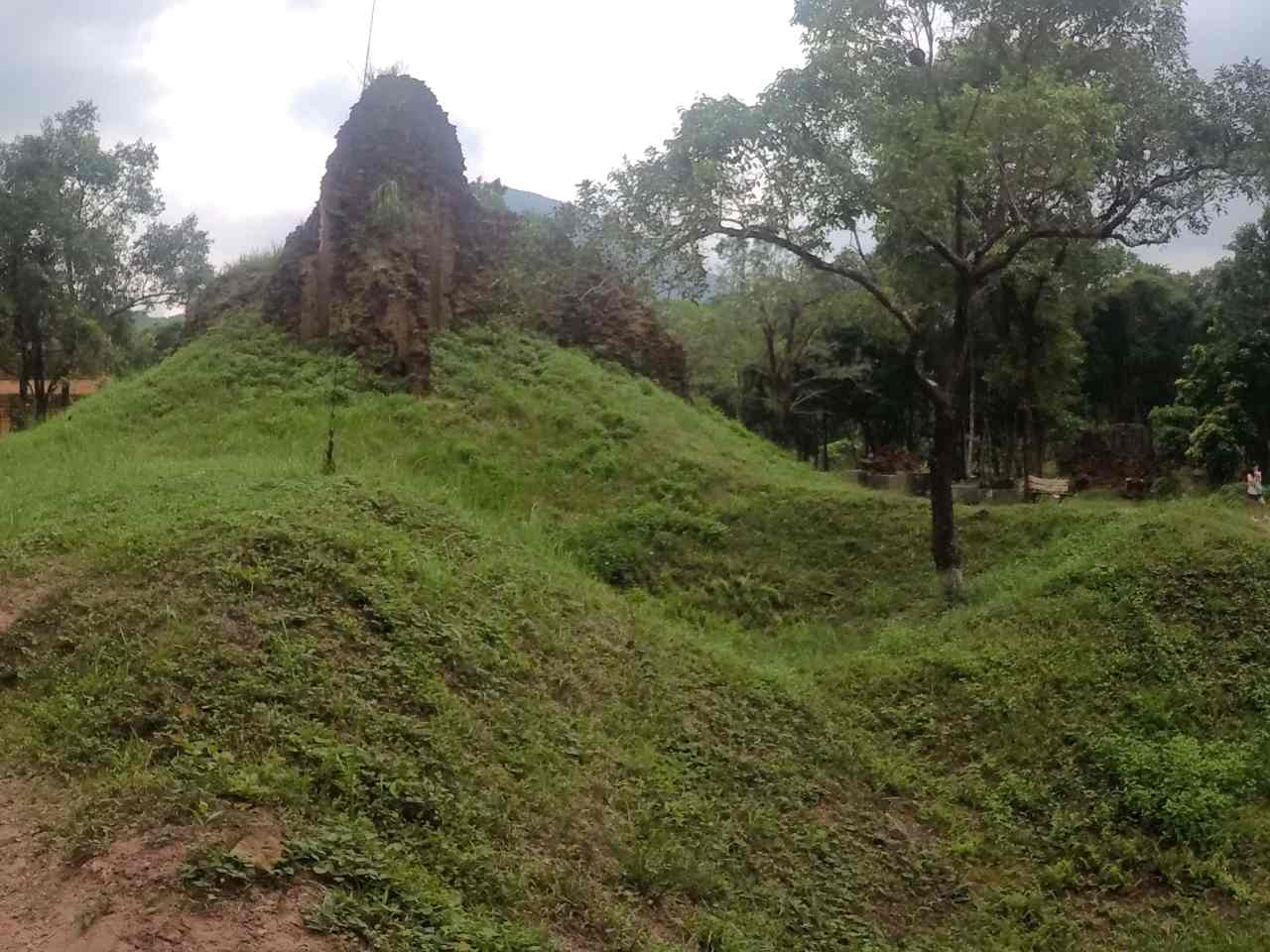 Crater damage My Son Temples Vietnam War