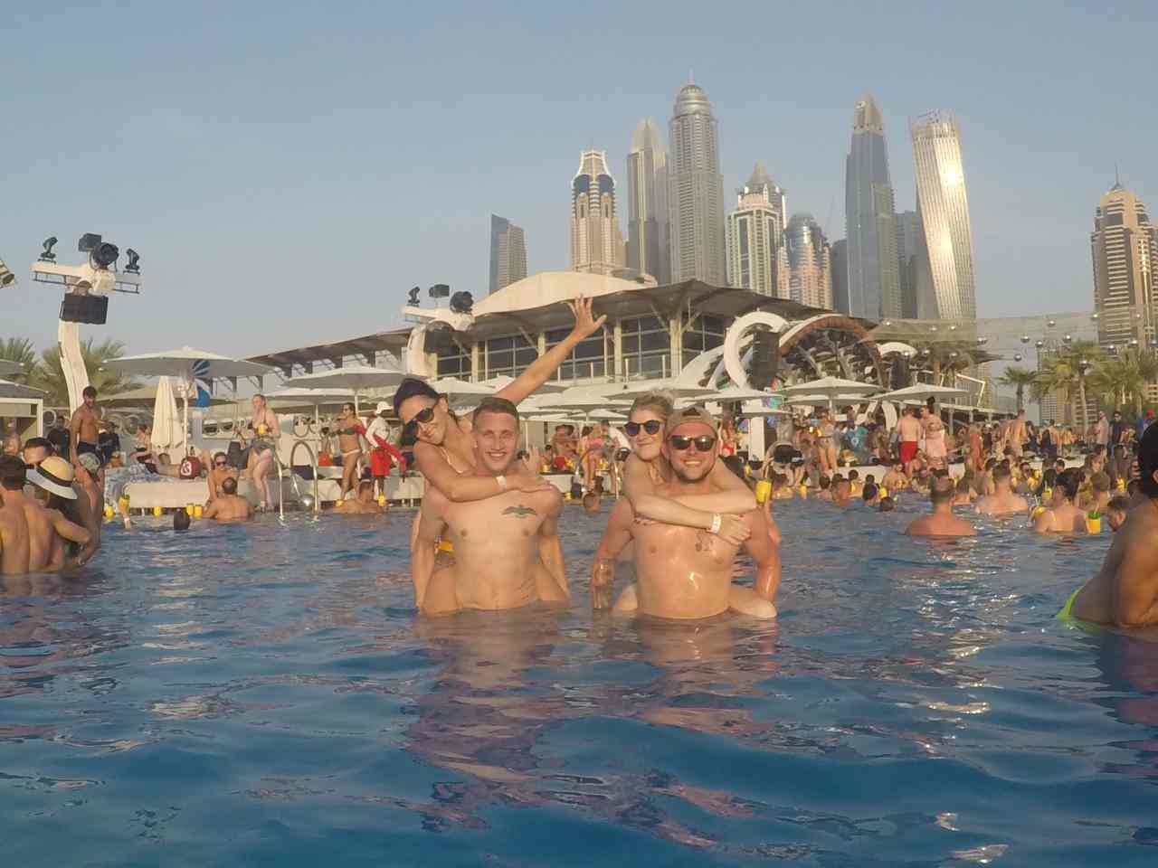 Zero gravity Dubai pool