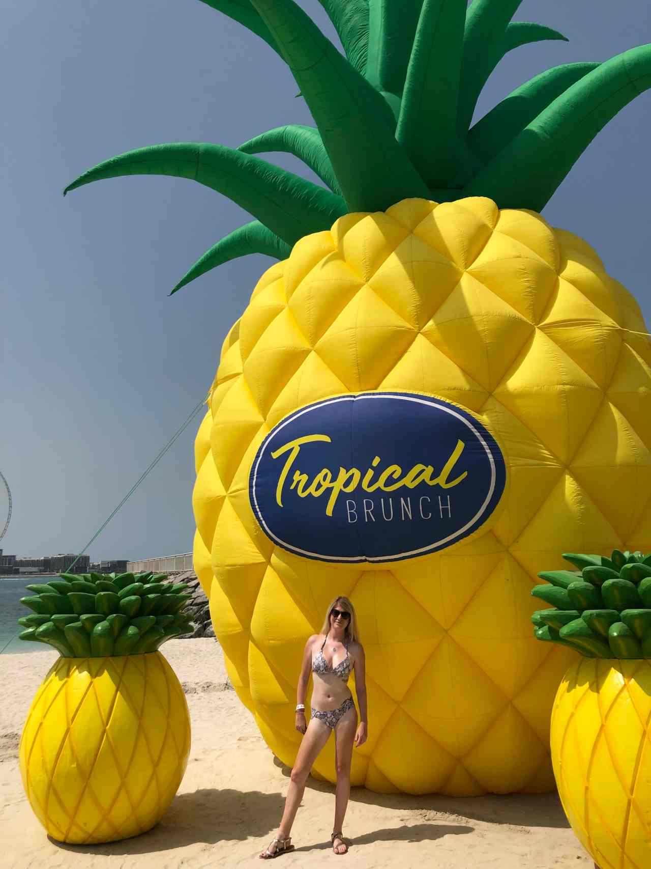 Giant pineapples at zero gravity Dubai