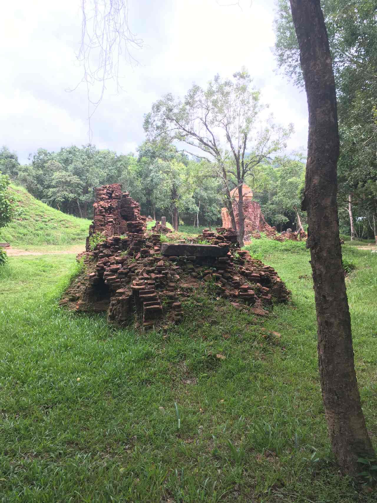 My Son temple Vietnam War damage