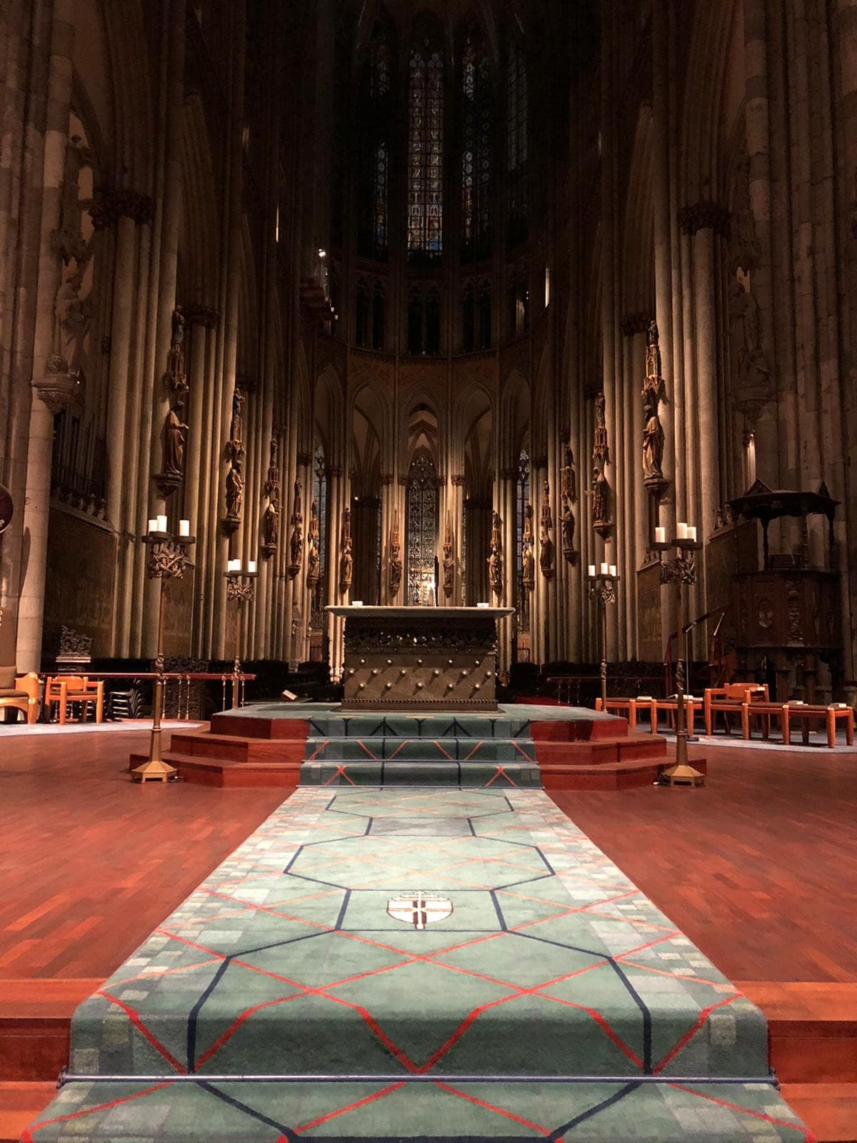Inside Cologne Cathedral altar