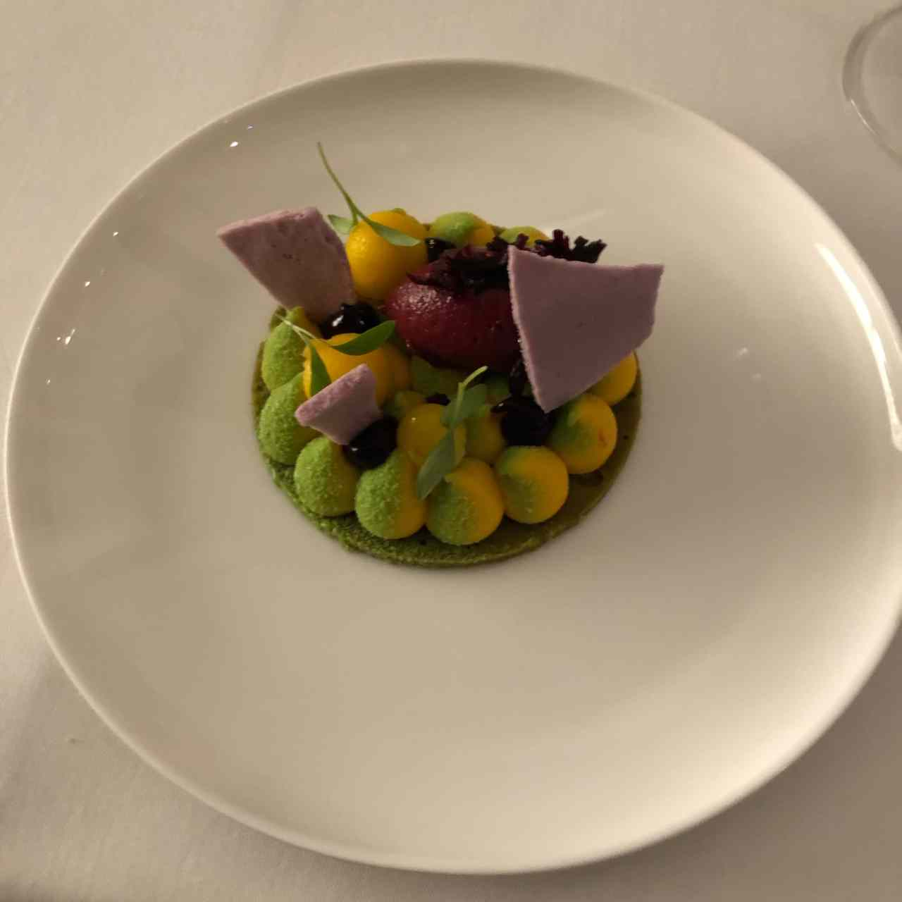 Ox & Klee vegetarian tasting menu dessert