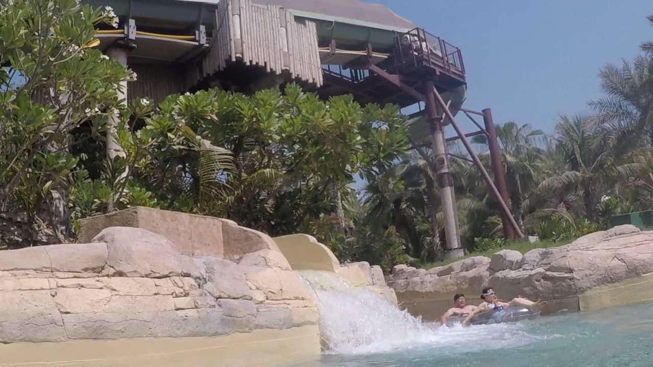 Aquaventure waterpark Atlantis Dubai slide exit