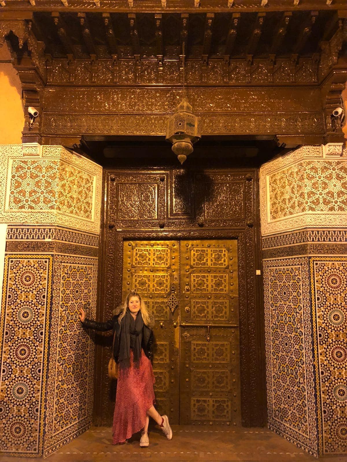 Ornate door in Marrakech souk