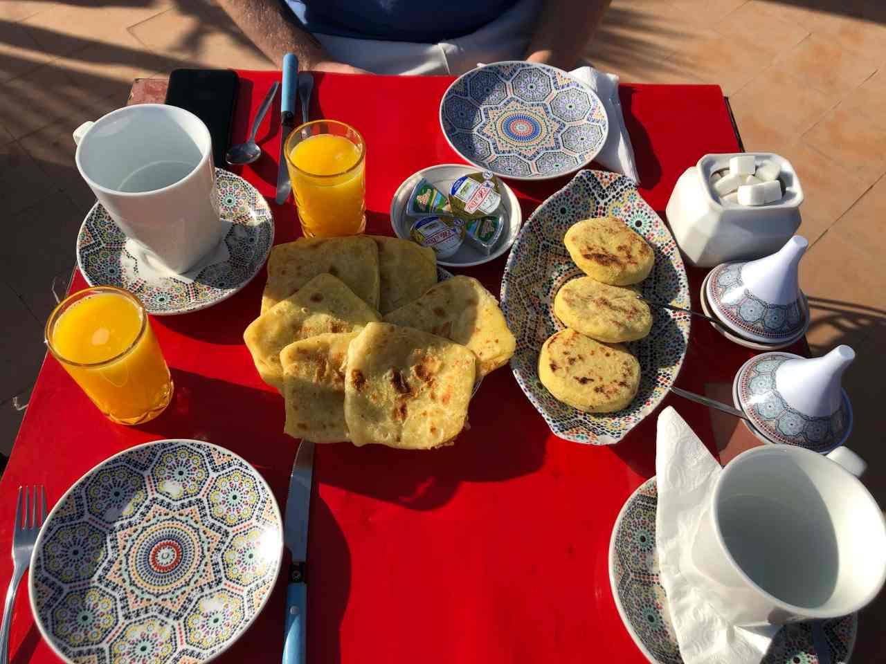 riad oumaima breakfast marrakech