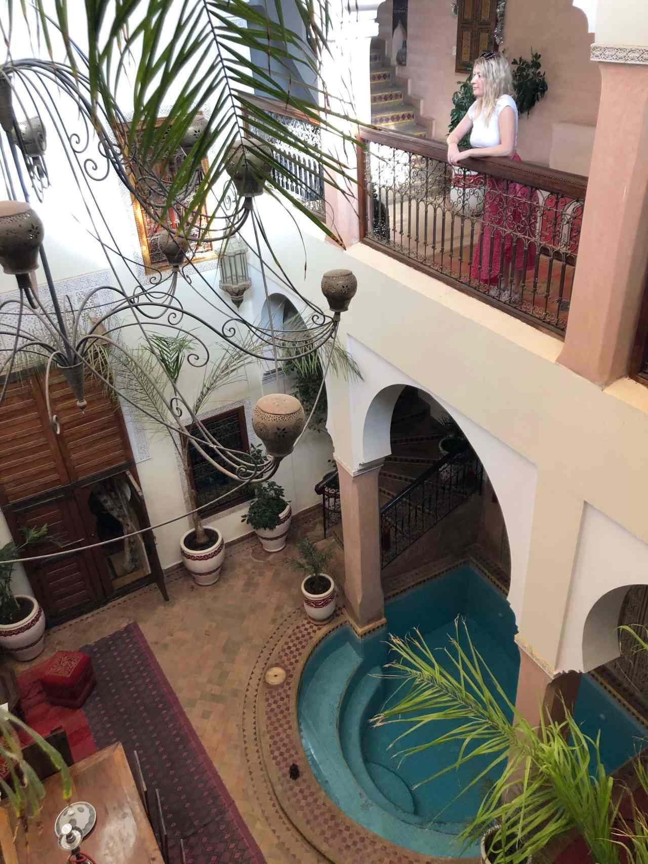 Riad oumaima courtyard