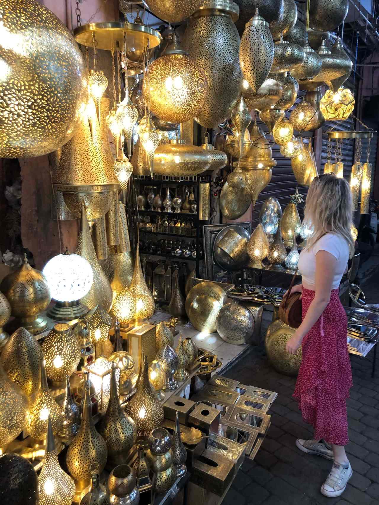 Lamp souk in Marrakech