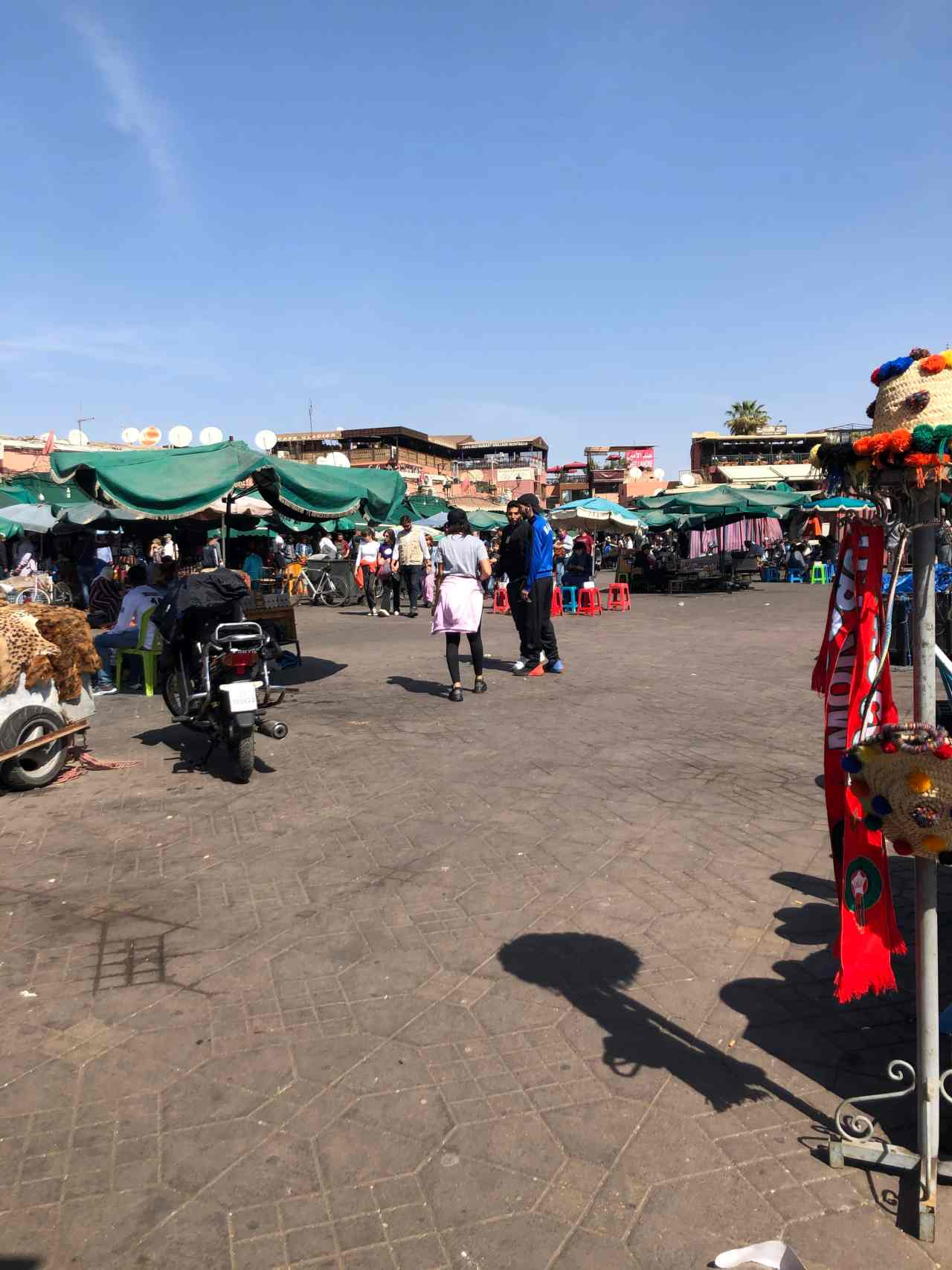 Marrakech main square by day