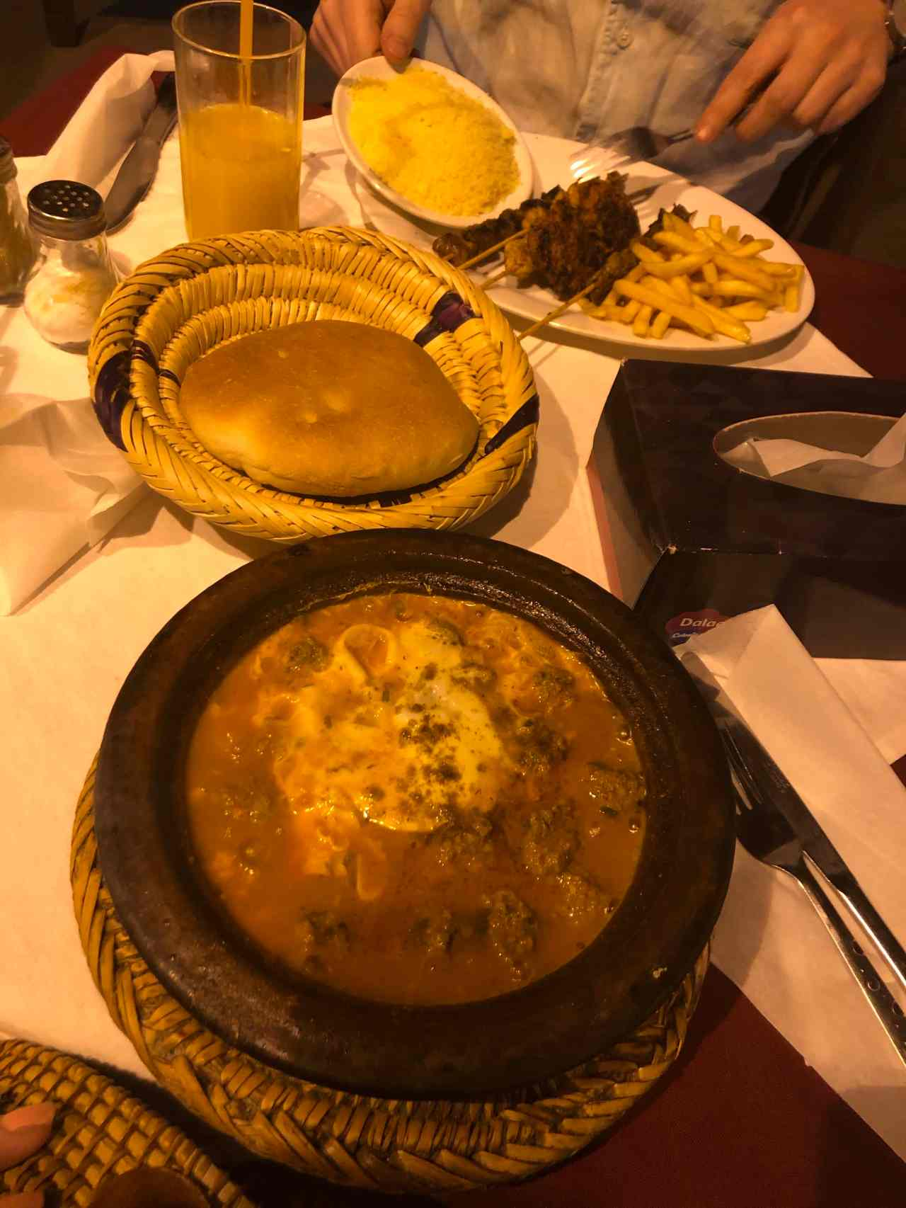 Kefta tagine and mixed grill at Place des Saveurs