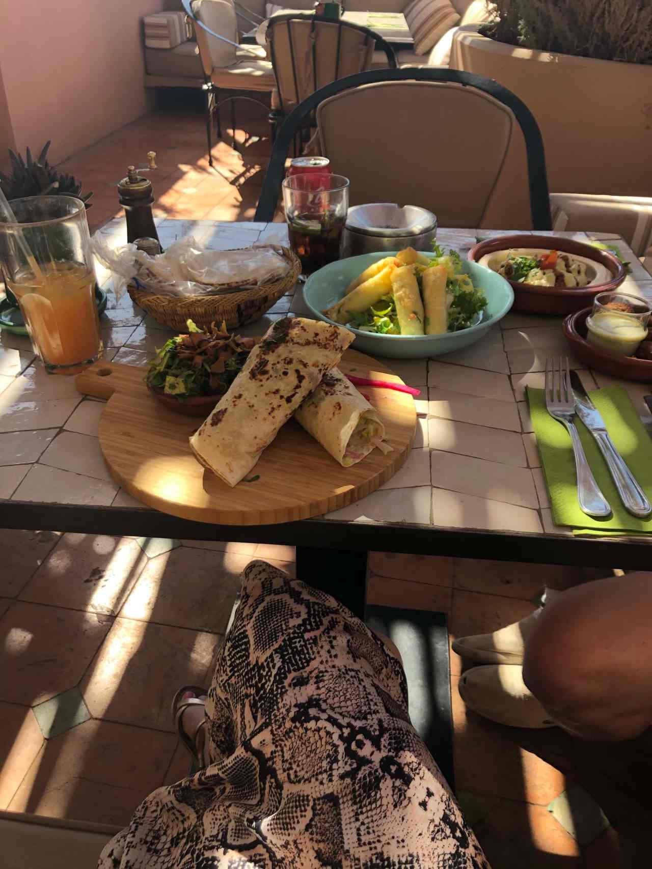 Food at Naranj Marrakech