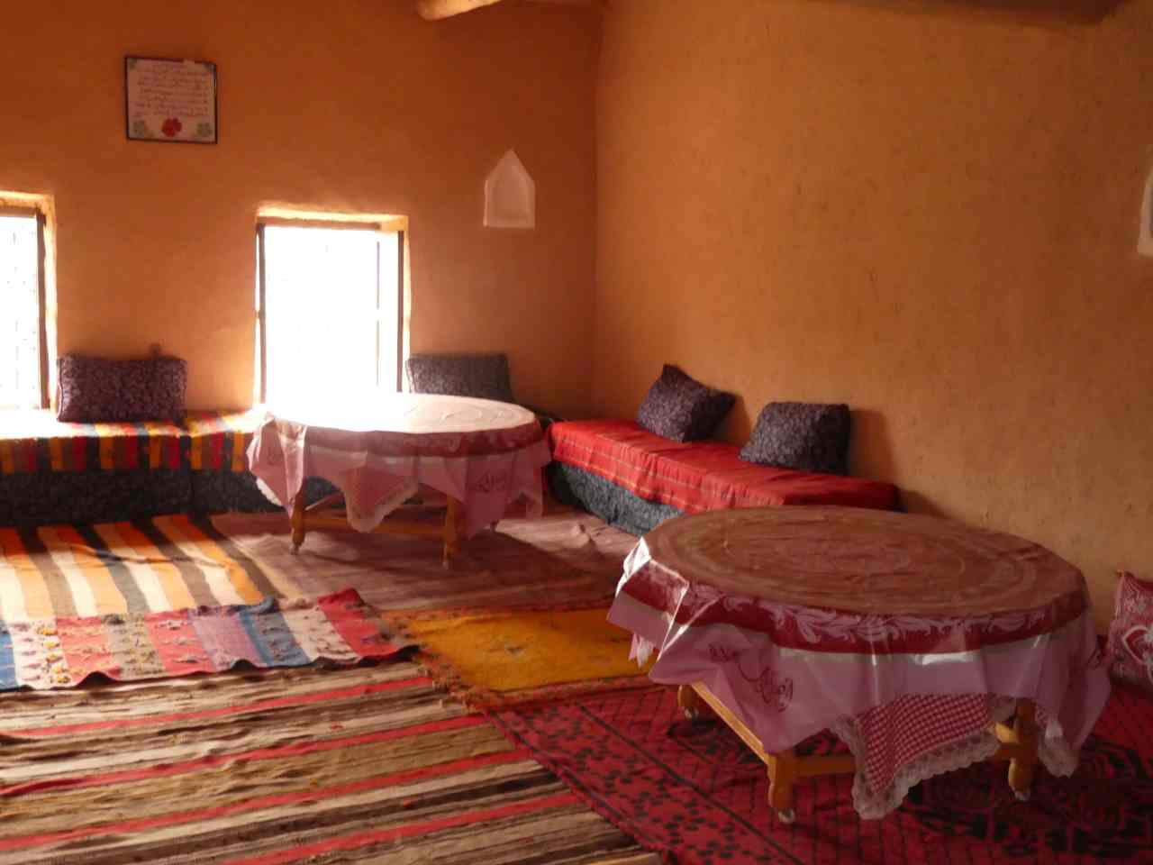 Inside a berber home Ait Benhaddou