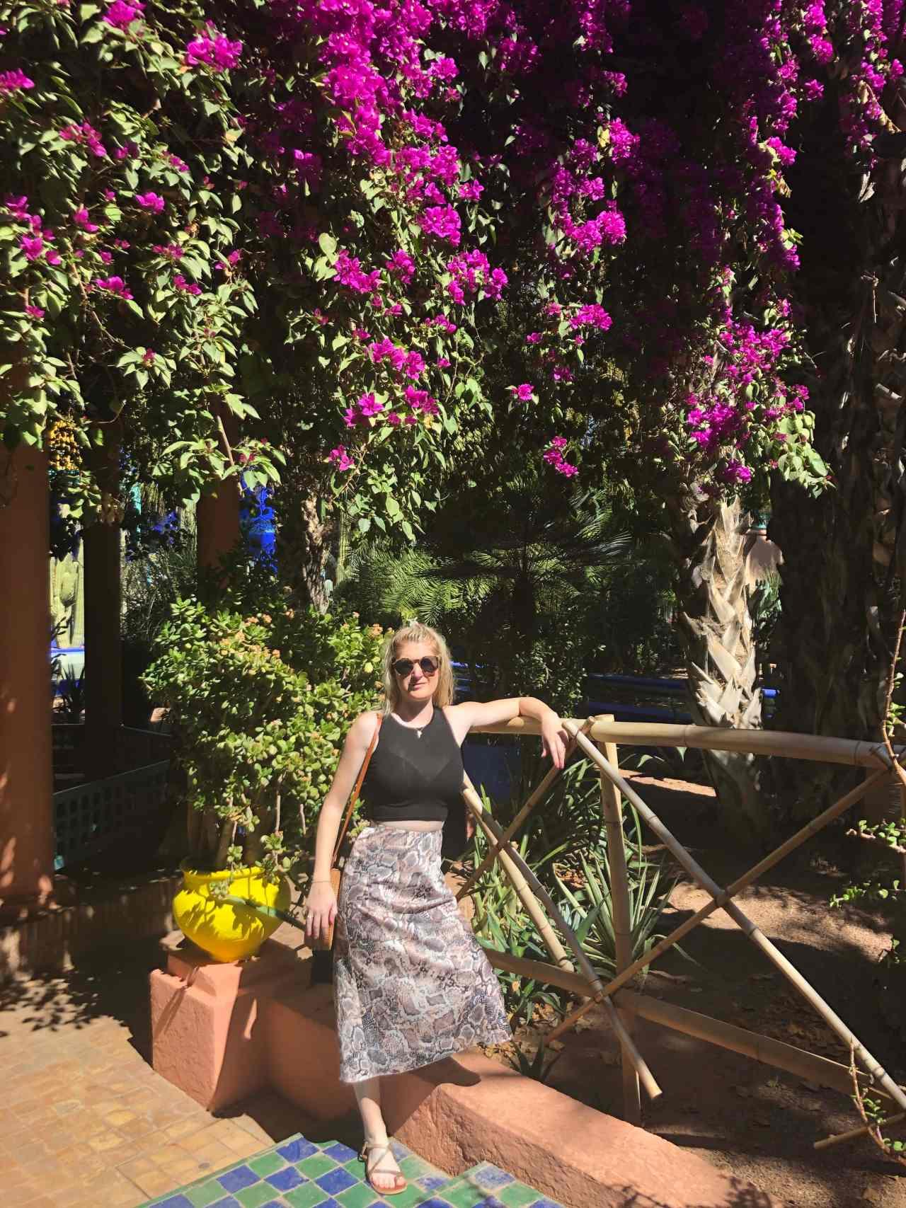Girl in Le Jardin Majorelle