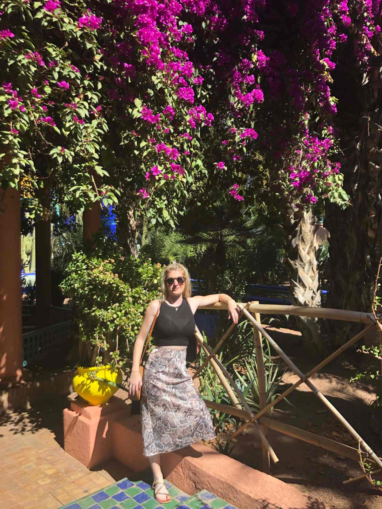 Girl in Le Jardin Majorelle