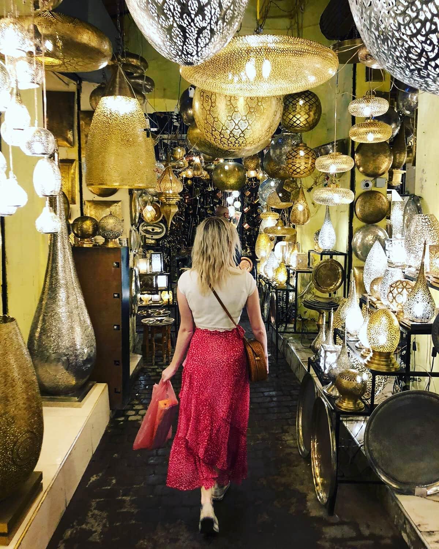 Silver lantern street Marrakech Souks