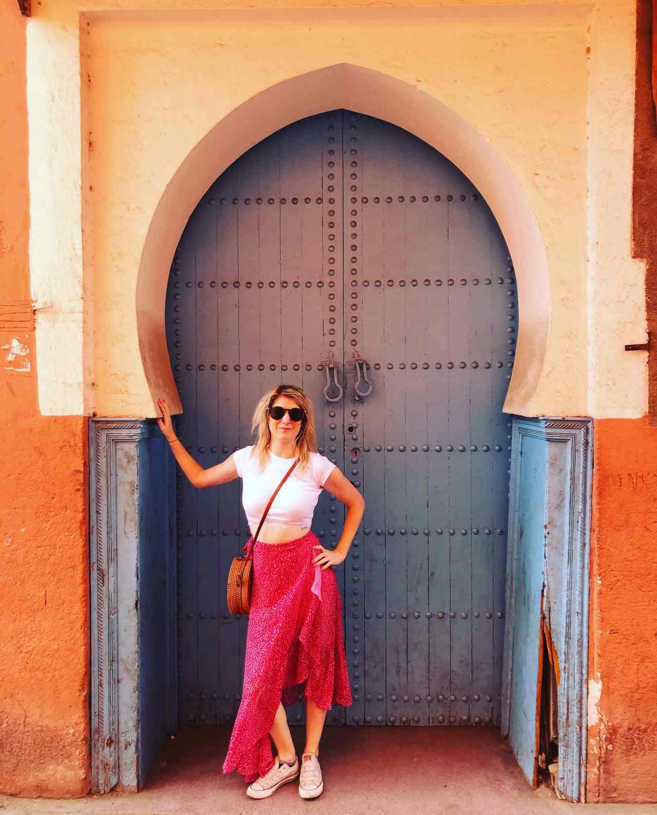 Instagram doorway Marrakech medina