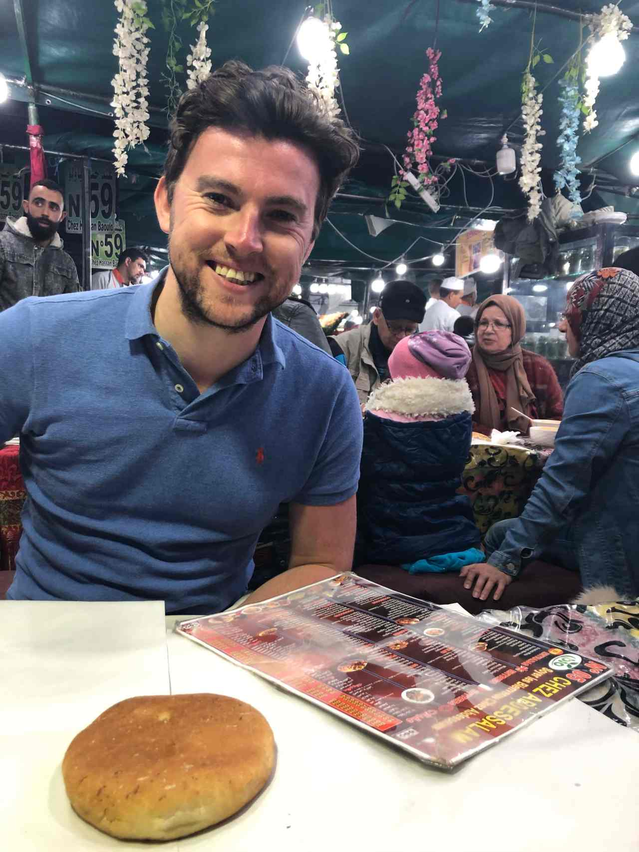 Eating with locals at Marrakech night time food market