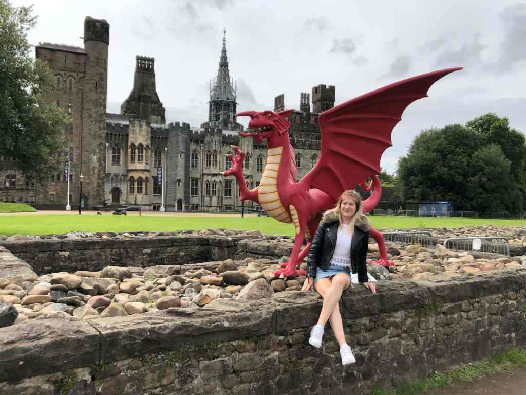 Welsh dragon cardiff castle