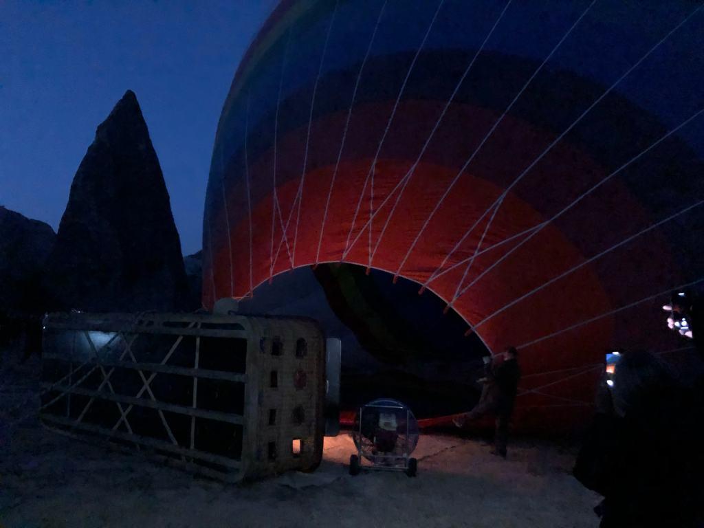 Rainbow balloons cappadocia