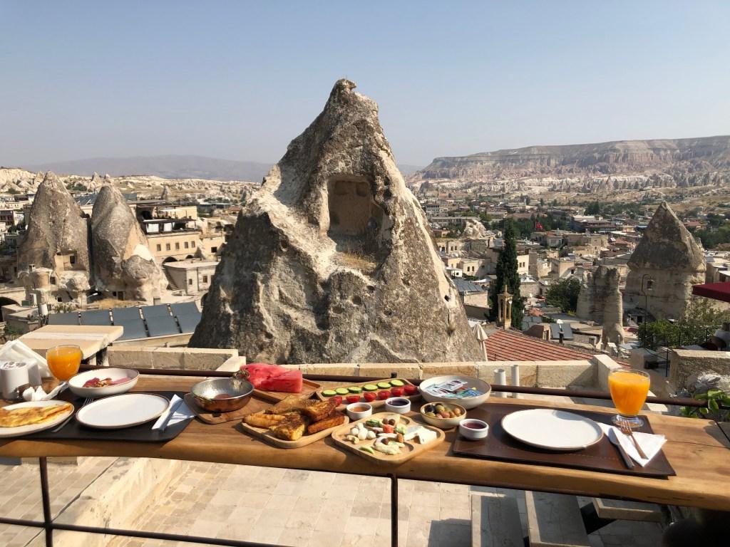 Turkish breakfast Koza cave hotel