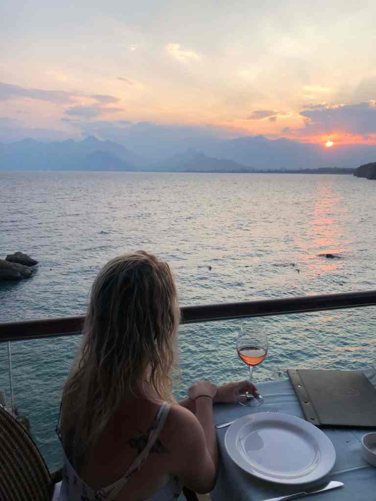 Antalya marina sunset