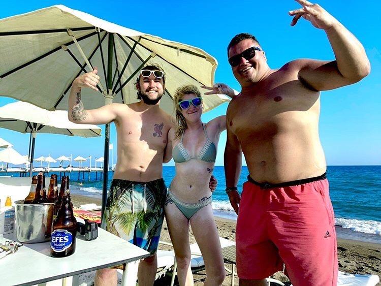 Beers on Lara beach