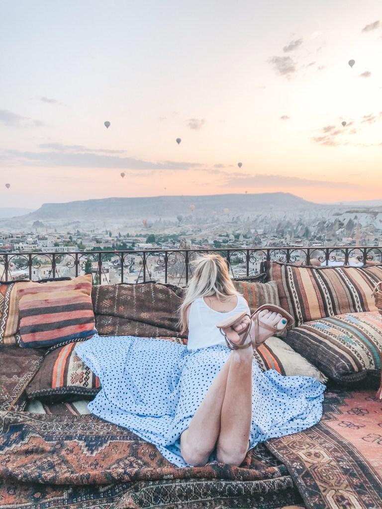 Koza Cave hotel rooftop Cappadocia
