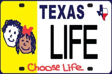 """Tens of thousands of dollars raised from sales of newly authorized """"Choose Life"""" license plates in Texas will go to 13 crisis pregnancy centers and adoption agencies."""