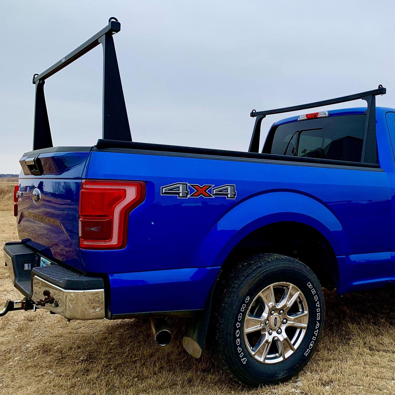 adarac black matte pro series truck rack
