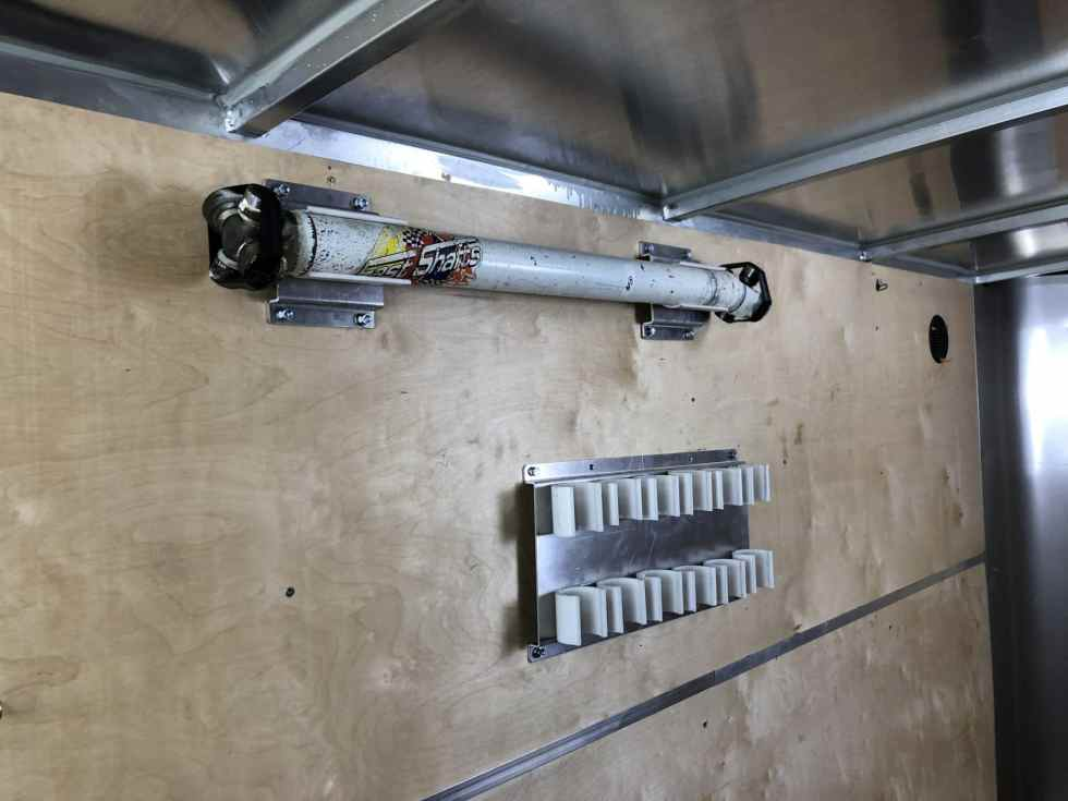 K2 Shock Rack Mounted on Trailer Wall