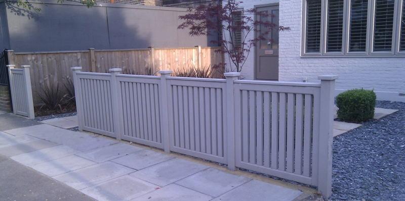 Contemporary Front Garden Fence And Driveway