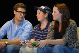 Chris Carchedi, Alyssa Collins and Charis Nelson in Let's Get Angsty