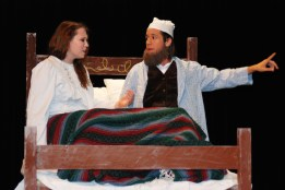 Charis as Golde and Christian as Tevye in The Fiddler on the Roof