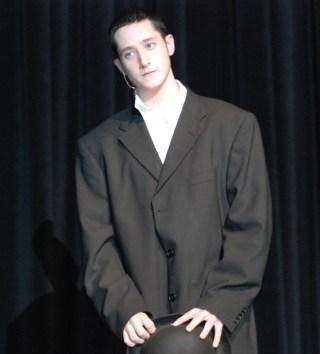"Ian Haas sang ""Mister Cellophane"" photo by Sami Murray"