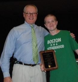 Mr.Murphy with Senior Alex J. Smith