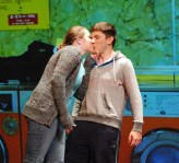 """Charis Nelson and Chris Catania exchange an unexpected kiss.in one of the vignettes from """"Almost, Maine"""""""