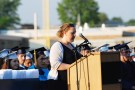 Ms. Walsh giving her speech