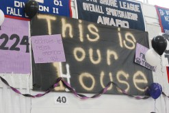 """The senior banner. """"This is our House"""""""